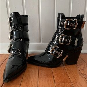 Jeffrey Campbell Zipper and buckle booties